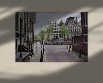 Schilderij: Amsterdam, Herengracht-Beulingstraat van Igor Shterenberg