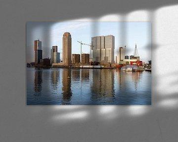 Rijnhaven met uitzicht op de Wilhelminapier sur Rick Keus