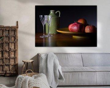 Stilleven met kruik en fruit von Mooie Foto