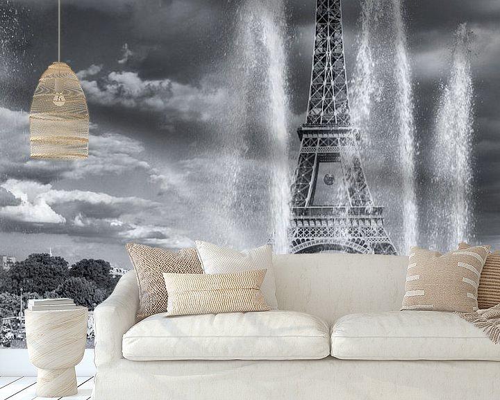 Sfeerimpressie behang: Eiffeltower van Eriks Photoshop by Erik Heuver