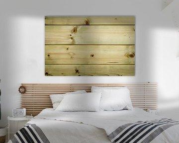 Nieuw geimpregneerd hout van de schuur van Sven Wildschut