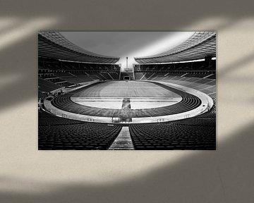 Olympiastadion Berlin schwarzweiß (4)