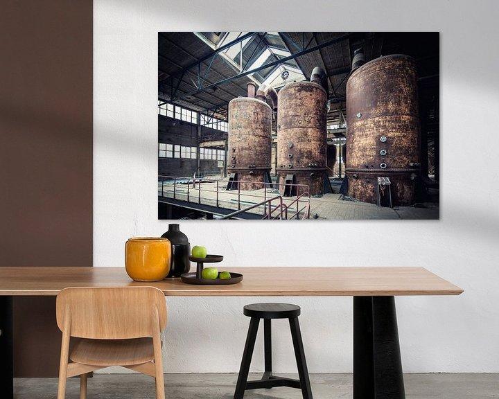 Beispiel: Rostige Silos in alter Fabrikhalle von WWC Fine Art Photography