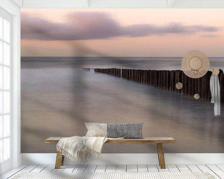 Sfeerimpressie behang: subtiel van Ruben Van der Sanden