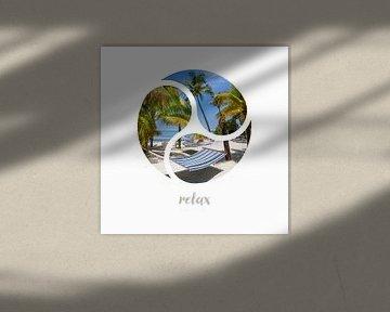 Graphic Art RELAX | Key West I van Melanie Viola