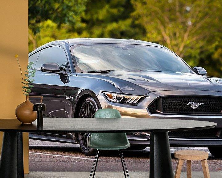 Sfeerimpressie behang: Musclecar Ford Mustang 2015 in Amerika van Karel Pops