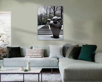 Beeld in de Steile Tuin, Park Sonsbeek Arnhem  van Petra Dielman