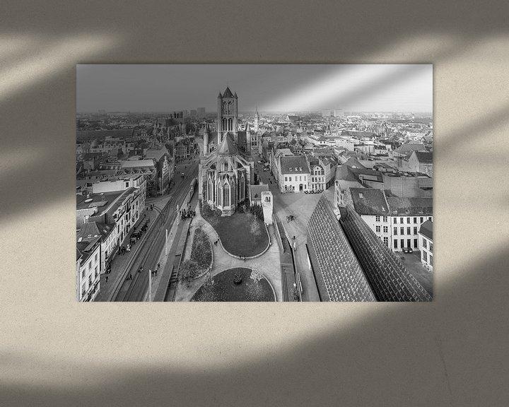 Sfeerimpressie: Het uitzicht over Gent met de Sint-Niklaaskerk van MS Fotografie | Marc van der Stelt