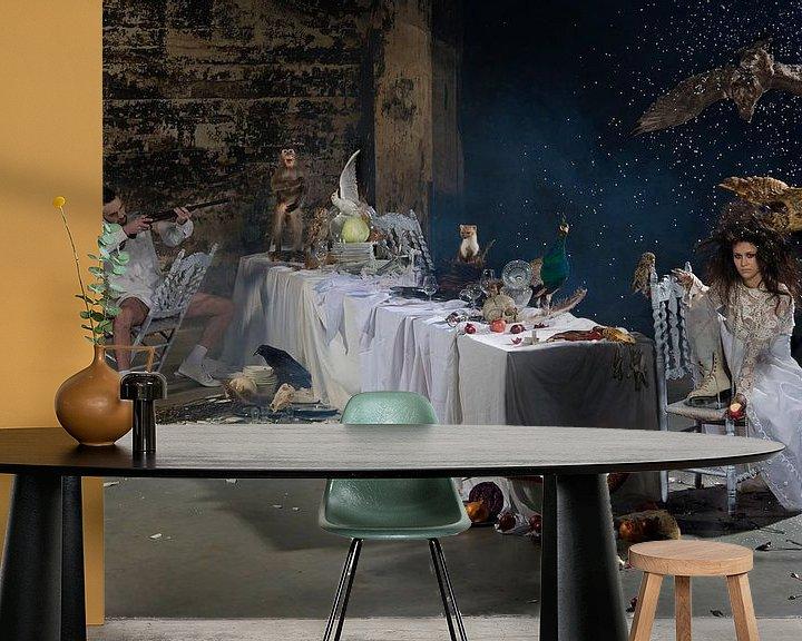 Sfeerimpressie behang: What's for dinner? van Jeannine Van den Boer