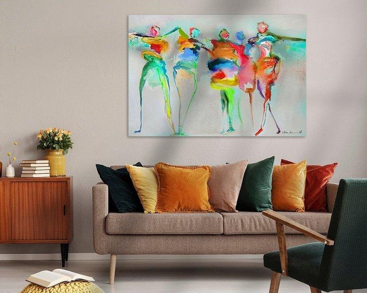 Sfeerimpressie: Happy Connected People 1 van Atelier Paint-Ing