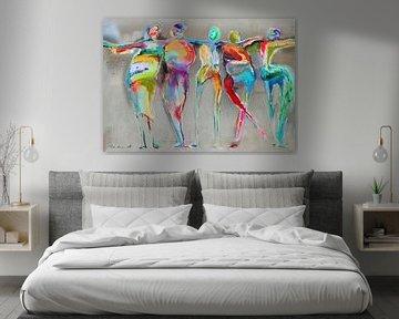 Happy Connected People 2 van Atelier Paint-Ing