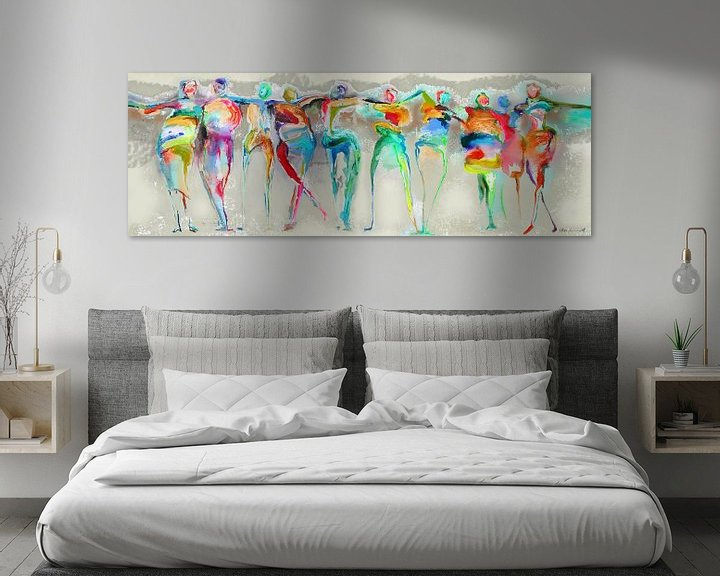 Sfeerimpressie: All Happy Connected People  van Atelier Paint-Ing