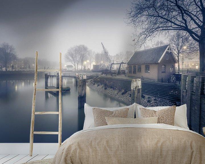 Sfeerimpressie behang: Oude Haven Rotterdam van Rob van der Teen