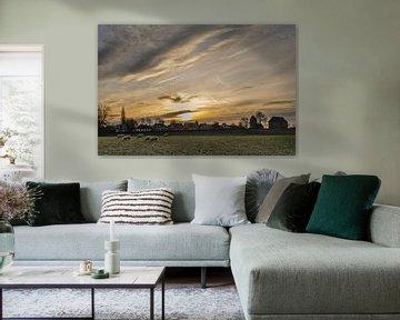 Zonsondergang bij Ezinge (Gr.) von Greet ten Have-Bloem