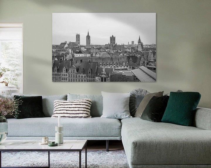 Sfeerimpressie: Het uitzicht over de stad Gent van MS Fotografie   Marc van der Stelt
