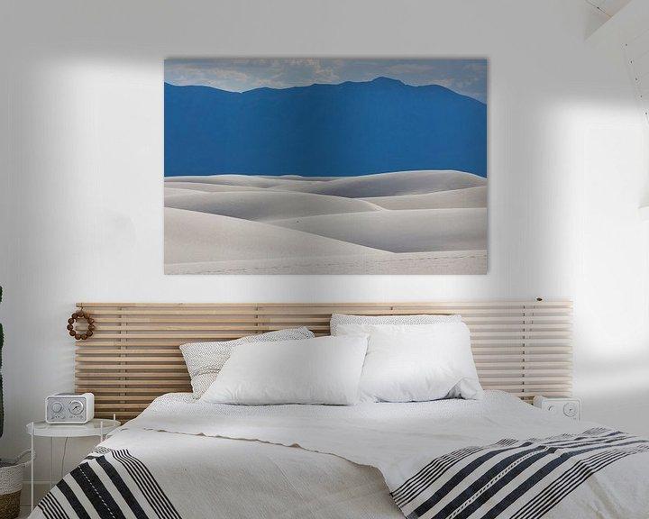 Sfeerimpressie: Gipsduinen in White Sands National Monument van Edwin Mooijaart