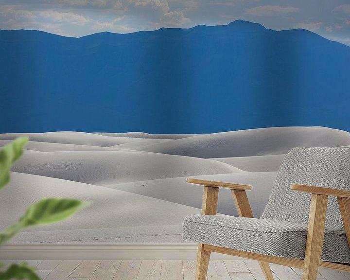 Sfeerimpressie behang: Gipsduinen in White Sands National Monument van Edwin Mooijaart