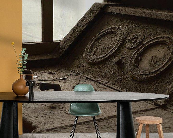 Sfeerimpressie behang: schakelaar van Edwin de Zwaan
