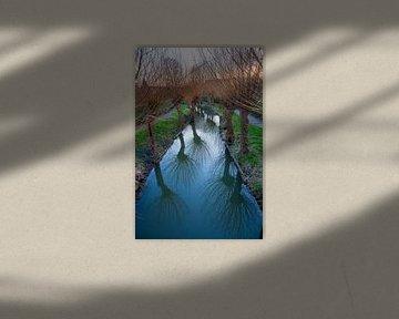 Zicht op de Minstroom bij de Abstederdijk in Utrecht. One2expose Wout Kok Photography. van Wout Kok