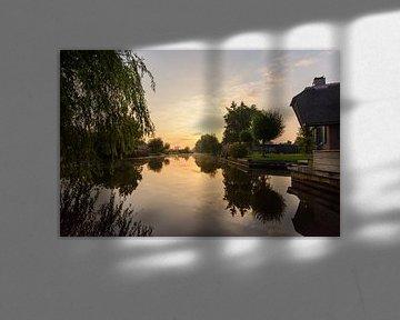 Zonsopkomst in Giethoorn van Remco Van Daalen