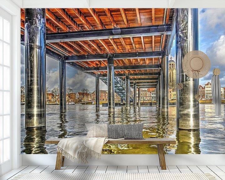 Impression: Deventer sous le pont sur Frans Blok