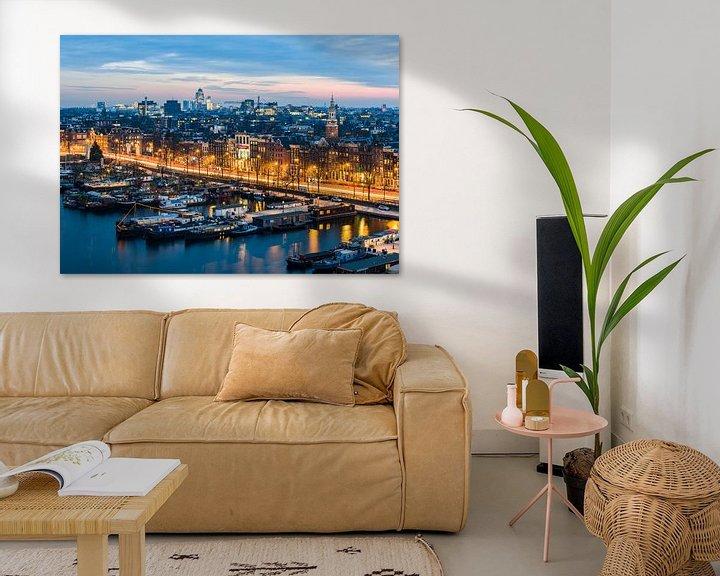 Impression: Avondfoto Amsterdam met Oosterdok en de Omval sur Renzo Gerritsen