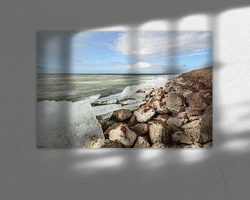 Kruiend ijs op het Markermeer van Bernadet Gribnau