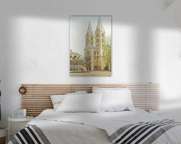 Schilderij: Roermond, Munsterplein sur Igor Shterenberg