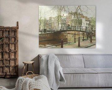 Schilderij, Brouwersgracht-Herengracht van Igor Shterenberg