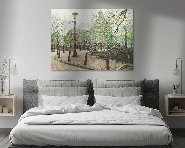 Sfeerimpressie: Schilderij: Ronde Lutherse Kerk, Amsterdam van Igor Shterenberg