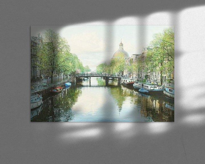 Sfeerimpressie: Schilderij: Amsterdam, Singel van Igor Shterenberg