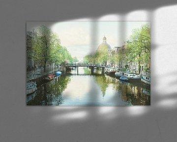 Schilderij: Amsterdam, Singel van Igor Shterenberg