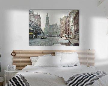 Schilderij: Amsterdam, Raadhuisstraat-Westerkerk von Igor Shterenberg