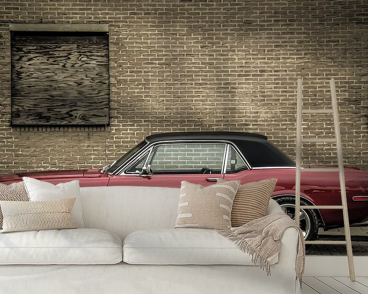 Sfeerimpressie behang: Ford mustang van marco de Jonge