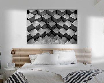 Abstract - blokken perspectief van Erik Bertels