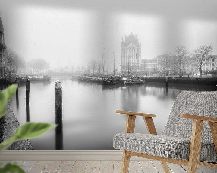 Impression: De oude Haven Rotterdam zwartwit sur Rob van der Teen