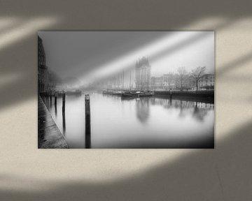 De oude Haven Rotterdam zwartwit