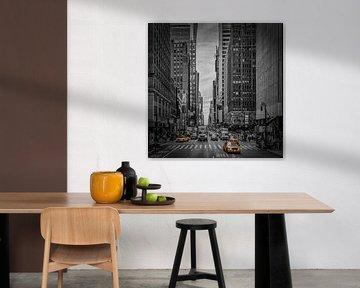 NEW YORK CITY verkeer op 7th Avenue van Melanie Viola