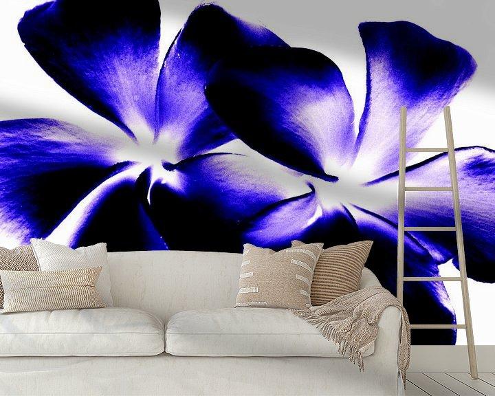 Sfeerimpressie behang: Blue twins van Ernst van Voorst