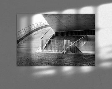 trappenconstructie van de brug de Oversteek von eusphotography