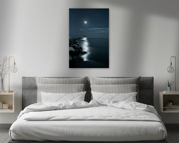 la Luna - De Maan boven de Venetiaanse kust van Jasper van de Gein Photography