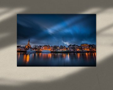 Zonsondergang over Alkmaar, Accijnstoren en Bierkade 02 van Arjen Schippers