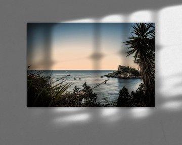 taormina sicilie fotoposter of  wanddecoratie