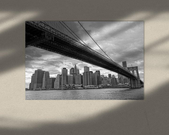 Sfeerimpressie: New York Brooklyn Bridge van Peter Pijlman