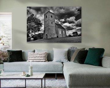Kerk in landschap, Stompetoren Spaarndam van Peter Pijlman