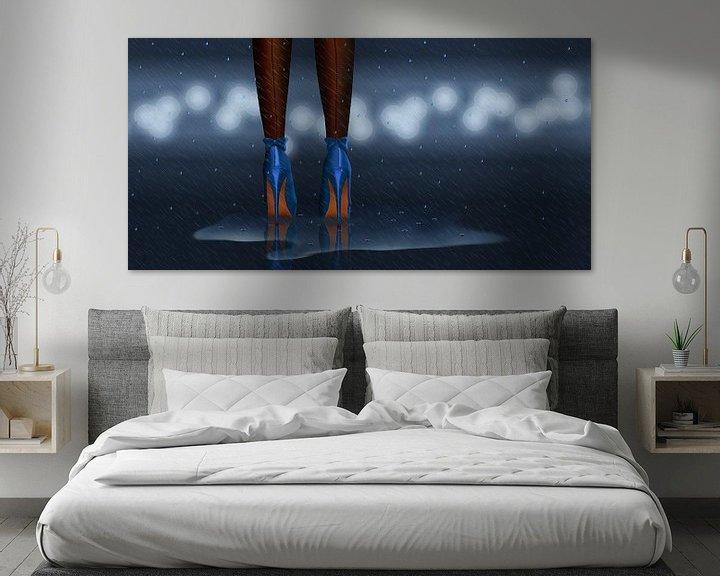 Sfeerimpressie: In de regen staan variant 2 in midnight blue van Monika Jüngling