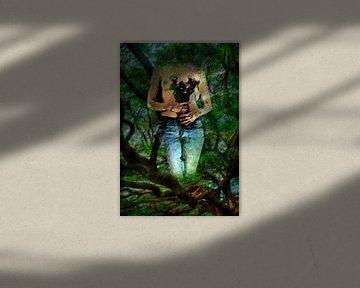 vrouw in jeans-woman in jeans-femme en jeans-Frau in jeans von aldino marsella