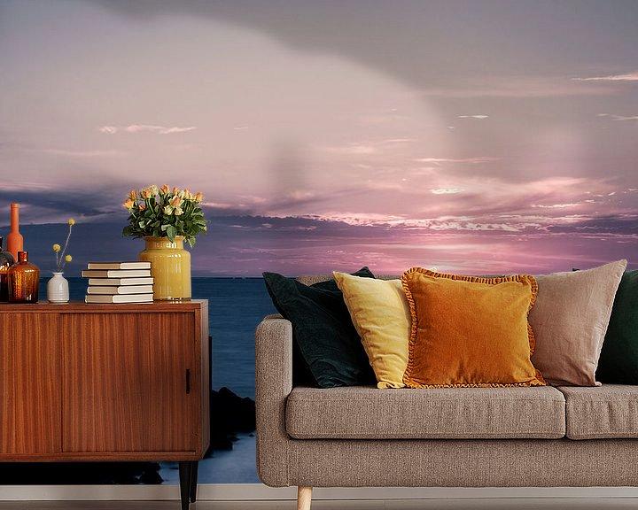 Sfeerimpressie behang: Pink Sunset.. I van Miranda van Hulst