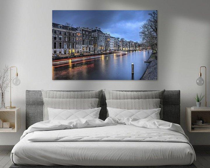 Sfeerimpressie: Nieuwe Herengracht bij avond van Frans Blok