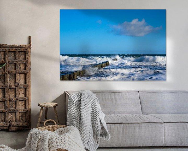 Beispiel: Buhnen an der Küste der Ostsee von Rico Ködder